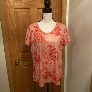 St. John's Bay Active XL V-Neck Floral Blouse